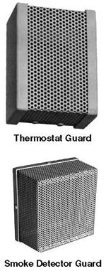 Metal Thermostat Guards And Smoke Detector Locking Guards