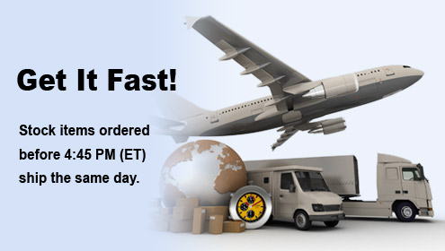 Get It Fast! Stock items ordered before 4:45 PM (ET) ship the same day.