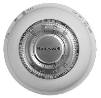Honeywell Non Mercury Round Digital Thermostats